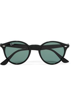 Black acetate  100% UV protection Come in a designer-stamped leather case Made in Italy