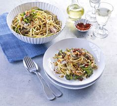 Pasta with pine nuts, broccoli, sardines & fennel recipe - Recipes - BBC Good Food