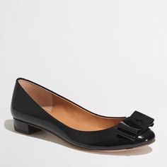 J.Crew Harper Patent Bow Flats Adorable Harper patent bow flats from J.crew Factory. Generally worn. Sold out. J. Crew Shoes Flats & Loafers