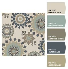 Paint colors from Chip It! by Sherwin-Williams.  MARAIS - NATE BERKUS FABRIC - ENGLISH GARDEN