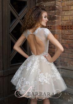 Короткое платье с открытой спиной (#01 KP144), цена 39900 руб - фото   «Белый Авантаж»
