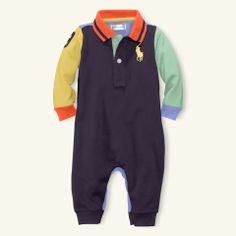 Color-Blocked Coverall - Layette One-Pieces & Sets - RalphLauren.com