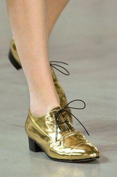 d10e8133de  DerekLam  gold goes all over the shoe a  oxford shoe fabulous work shoes