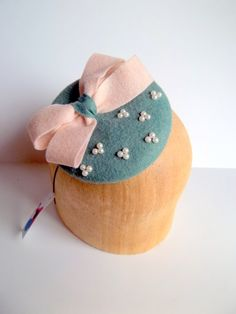 Simply Pearly Button Cocktail Hat by ChefBizzaro on Etsy, $55.00