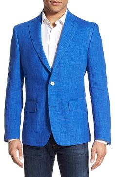 Nordstrom Men's Shop Classic Fit Linen Blazer