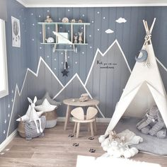 50 inspirierende Kinderzimmer-Design-Ideen Best Picture For baby room decor mountains For Your Taste You are looking for something, and it is going to tell you … Baby Bedroom, Baby Boy Rooms, Nursery Room, Girls Bedroom, Kids Rooms, Baby Boys, Bedroom Decor, Play Rooms, Room Baby