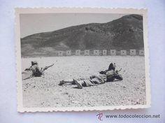 DarPROTECTORADO ESPAÑOL DE MARRUECOS : PRACTICAS DE TIRO . dar DRUCH, 1955.... 7 x 9 cm - Foto 1