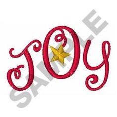 CHRISTMAS JOY embroidery design from embroiderydesigns.com