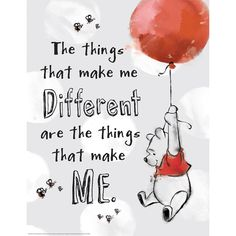 Winnie the Pooh The Things That Make Me Different Poster | Eureka School
