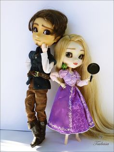 Tangled Pullip custom dolls...this is all kinds of epic.