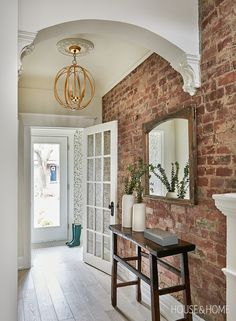 Brick Accent Walls, Faux Brick Walls, White Brick Walls, Exposed Brick Walls, Exposed Brick Kitchen, Brick Wall Kitchen, Kitchens With Brick Walls, Brick Wall Tv, Brick Wallpaper Accent Wall