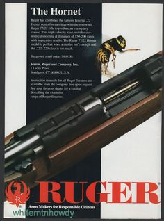 1994 RUGER Model 77/22 Hornet Rifle PRINT AD : Other Collectibles at GunBroker.com