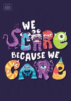 Pixar Monsters inc typography poster design by Risa Rodil, via Behance… Disney Pixar, Art Disney, Film Disney, Disney Kunst, Disney And Dreamworks, Disney Love, Disney Magic, Disney Characters, Disney Stuff