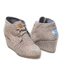 Taupe Moroccan Desert Wedge by TOMS  #zulilyfinds #zulily Free shipping on TOMS orders of $65 or more!
