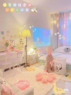 Room Design Bedroom, Room Ideas Bedroom, Bedroom Decor, Cute Room Ideas, Cute Room Decor, Pastel Room Decor, Pastel Bedroom, Study Room Decor, Room Setup