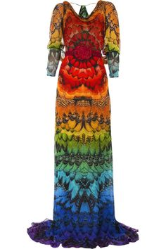 "Alexander McQueen - I rather like this just from an ""arty"" standpoint - reminiscent of the late 60s tie-dye look and very creative"