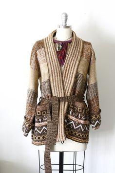 70's / 80's Wrap Boho Sweater