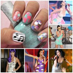Katy Perry's latex dresses nail art