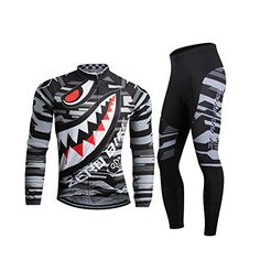 ZEROBIKE Mens Soft Long Sleeve Breathable Bicycle Cycling Jersey Polyester Clothing Outdoor Sports Fall Autumn *** Click image for more details.