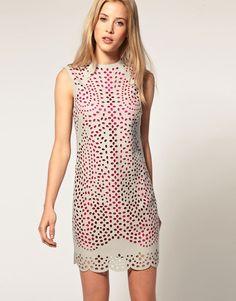 Asos laser cut dress