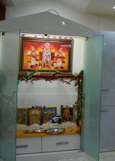 15 Pooja Room Designs In Hall   Pooja Room And Rangoli Designs Part 72