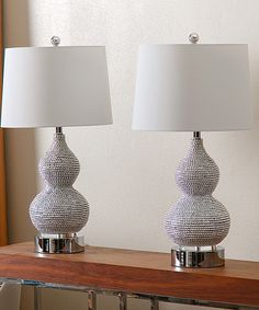 Take a look at this Katherine Fancy Beaded Table Lamp - Set of Two today!