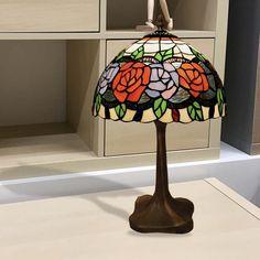 Lámpara de mesa Tiffany Rosy II