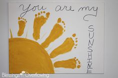 You Are My Sunshine Footprint Art