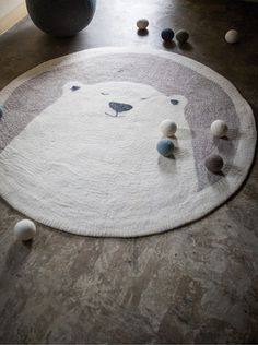 Tapis Chambre Bébé · Un Ours Polaire à La Fourrure Toute Douce Su0027installent  Dans La Chambre De Vos