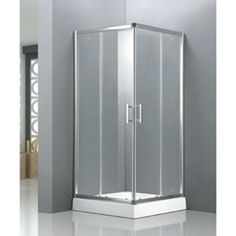 Cabine de douche complète en verre trempé avec receveur blanc 90x90cm CYNTHIA - Maison Facile : www.maison-facile.com