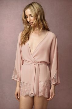 Violetta Pink - Dreamy Bridal Robes for Getting Wedding Ready - Photos