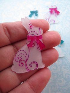 shrinky dink Easter bunnies by queenvanna creations, via Flickr