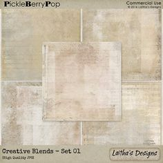 Creative Blends Backgrounds - Set 01 By Laitha's Designs