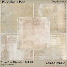 Creative Blends Backgrounds - Set 01 By Laitha's Designs