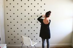 Washi tape DIY feature wall.