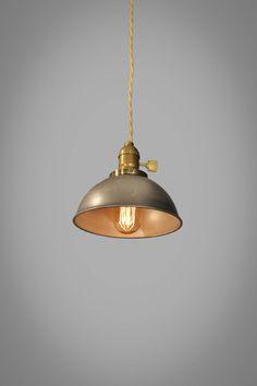 Industrial Steel Dome Pendant Lamp - Vintage Hanging Light | eBay