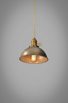Industrial Steel Dome Pendant Lamp - Vintage Hanging Light | eBay