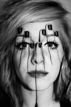 Illusion art work-hand on face-face on hand-art work-photoshop Double Exposure Photography, White Photography, Photography Tips, Illusion Photography, Modelling Photography, Photography Studios, Portrait Photography, Digital Photography, Mixed Media Photography
