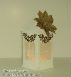 Christmas Lantern in Gold and White Stampin' Up! UK - part 1 of 2 Happy Happenings