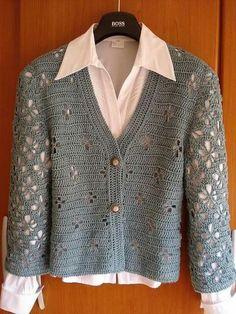 Crochet by Irininha, Crochet Baby Blanket Sizes, Crochet Baby Hat Patterns, Crochet Cardigan Pattern, Crochet Blouse, Blanket Patterns, Gilet Crochet, Crochet Coat, Crochet Jacket, Crochet Clothes