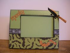 4 x 6 Halloween Picture Frame Spooky by TwoPreciousCreations, $15.00