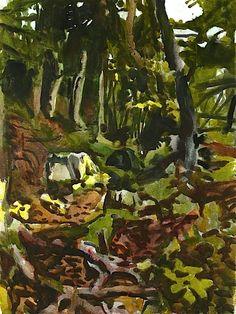 FAIRFIELD PORTER The Trail, 1974 Love his work !