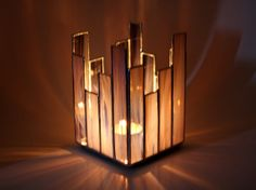 This is cute mom! and an easy little stained glass project! Stained Glass Votive Candleholder