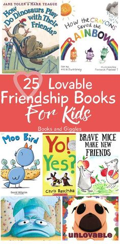 25 Loveable Friendship Books For Kids: These are our favorite Friendship Books for the classroom or home collection! 25 Loveable Friendship Books For Kids: These are our favorite Friendship Books for the classroom or home collection! Preschool Books, Book Activities, Preschool Activities, Emotions Preschool, Preschool Class, Neil Armstrong, Friendship Lessons, Teaching Friendship, Friendship Crafts