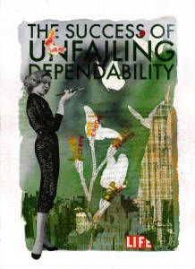 The Success of Unfailing Depandability #mixedmedia #collage #silkscreen