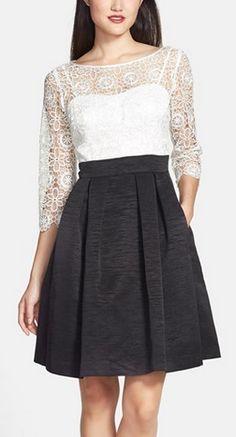 Gorgeous two tone dress by Eliza J http://rstyle.me/n/r99c6n2bn