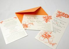 Summer Love  Wedding Invitation Set  Sample by ImpressPapers