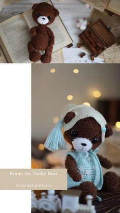 Crochet Teddy Bear Pattern, Crochet Bear, Crochet Patterns Amigurumi, Crochet Dolls, Knitting Patterns, Teddy Bear Clothes, Cute Plush, Stuffed Toys Patterns, The Help