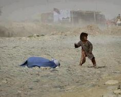 """""""A little girl trying to defend her mother after she has been stoned to death."""
