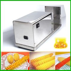 259.00$  Buy now - http://alijof.worldwells.pw/go.php?t=32623942067 - Stainless Steel Potato Stringing Machine Good Quality Spiral Potato Chip Makers Industrial Electric Potato Cutter